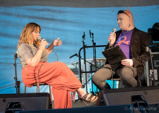 Charlotte Church in conversation with Simon Price (Photo: Arta Gailuma)