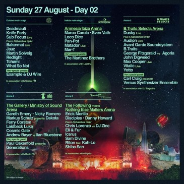 SW4 sunday line-up