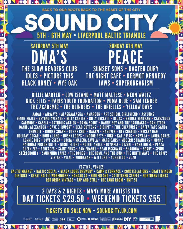 Sound City for May 2018 - new names revealed - artwork