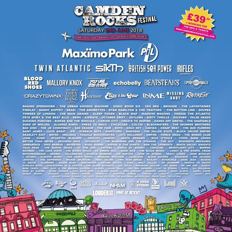 Camden Rocks line-up
